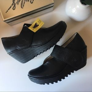 NWT Fly London Mary Jane style wedges